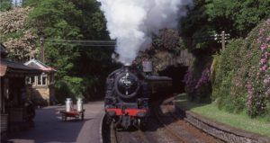 Haverthwaithe Lakeland Steam Railway - 20 minutes drive from Ellen Brow